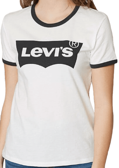 Cloud Dancer Perfect Ringer T-Shirt-Levi's