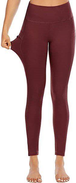 Coffee High Waisted Yoga Pants-FAFAIR