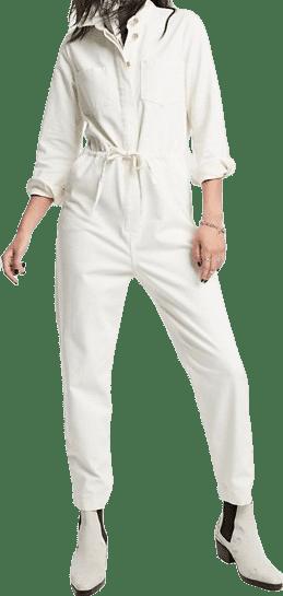 Cream Denim Boilersuit