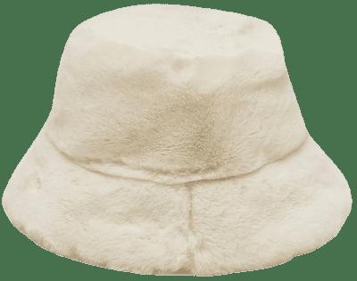 Cream Faux Fur Bucket Hat-Boohoo