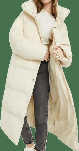 Cream Luxe Puffer Maxi Coat