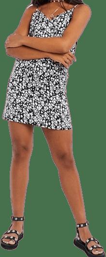 Daisy Floral Print Mini Cami Slip Dress-Asos Design