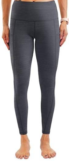 Dark Heather Grey High-Waisted Yoga Pants