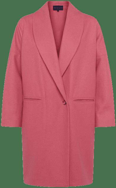 Desert Rose Ricio Platform Wool Cocoon Coat-French Connection