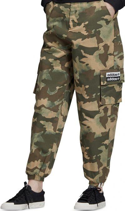 Earth Green Camo-Print Cargo Pants-Adidas