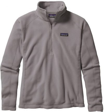Feather Grey Micro D Quarter-Zip Fleece Pullover-Patagonia