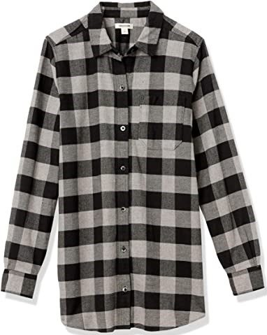 Flannel Oversized Boyfriend Shirt-Goodthreads