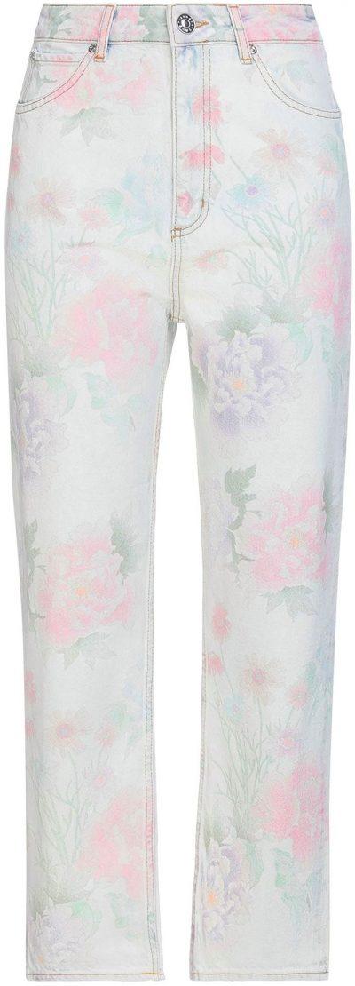 Floral Denim Pants-Sandro