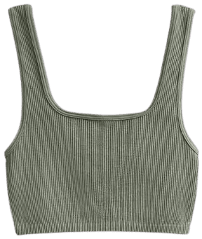 Green Limitless Contour Collection Top-Zara
