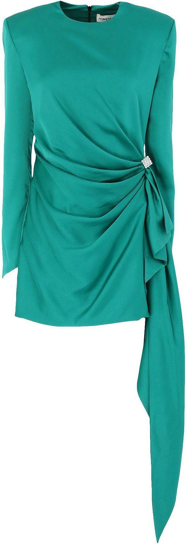 Green Short Dress-NINEMINUTES