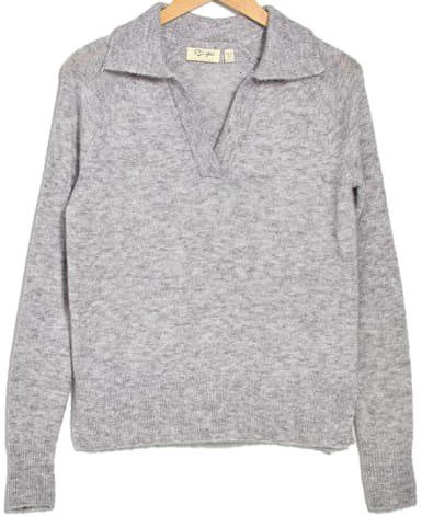 Grey Johnny Collared Cozy Pullover Sweater-Cloth By Design