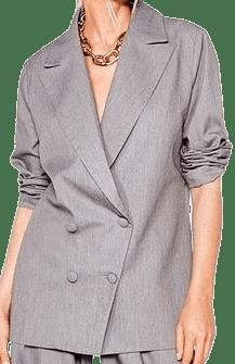 Grey Meeting's Over Oversized Blazer