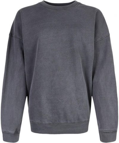 Grey Oversized Washed Sweatshirt-Boohoo