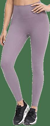 Hazy Lilac High Waisted Yoga Pants-Lavento