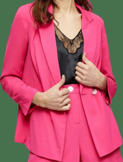 Hot Pink Button Blazer