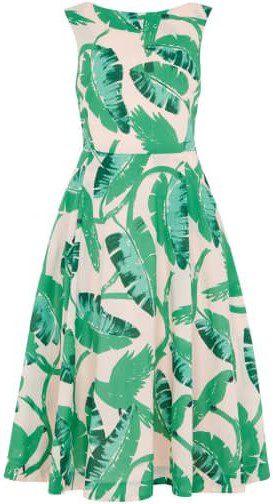 Jasmine Botanical Parakeets Dress-Emily and Fin