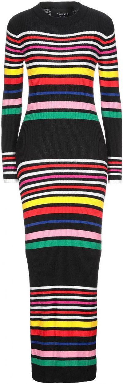Knitted Midi Dress-Paper London