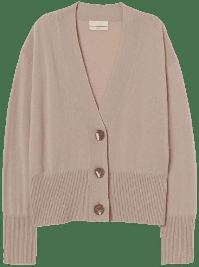 Light Beige Cashmere Cardigan-H&M