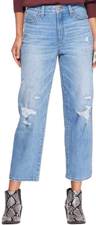 Light Blue Relaxed Fit High-Rise Straight Jeans Universal Thread