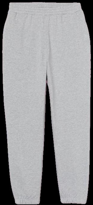 Light Gray Melange Cotton Sweatpants-H&M