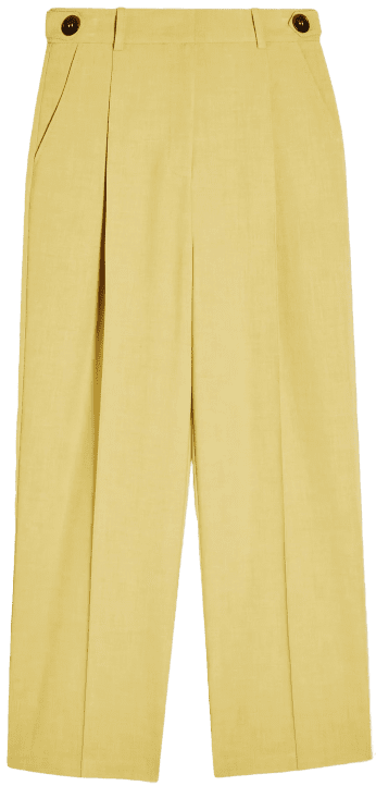 Lime Green Tab Waist Straight Pants-Topshop