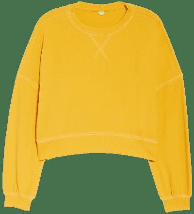 Magic Fool For Fall Crop Sweatshirt-Honeydew Intimates