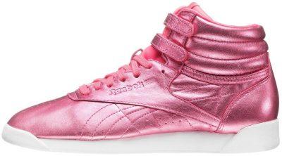 Metallic Pink Freestyle Hi Shoe-Reebok