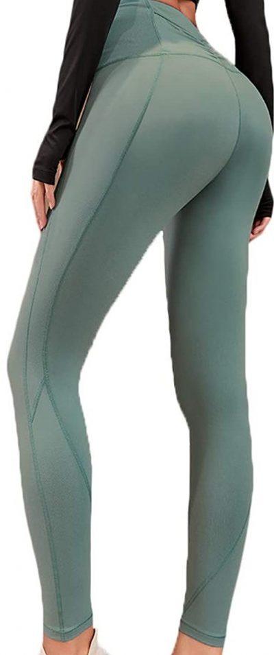 Mint Green High-Waist Yoga Pants