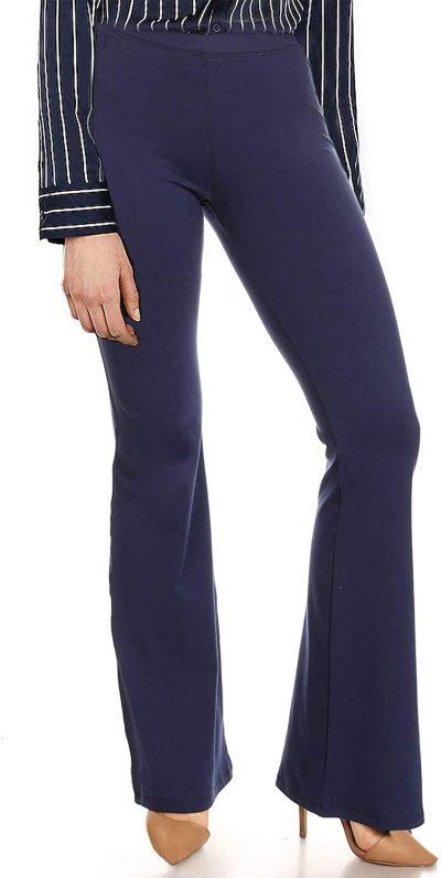 Navy Bootcut Yoga Pants
