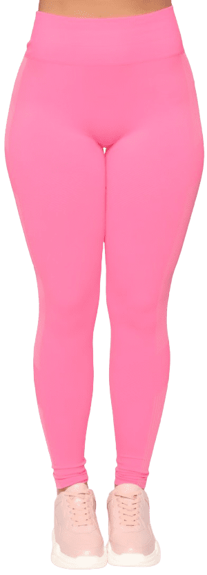 Neon Pink Stick With It Seamless Active Legging-Fashion Nova