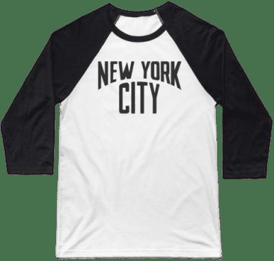 New York City John Lennon Baseball T-Shirt-TeePublic