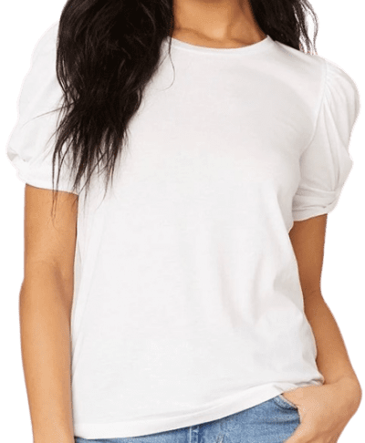 Optic White Huff And Puff T-Shirt-Steve Madden
