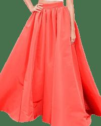 Orange Ball Gown Skirt