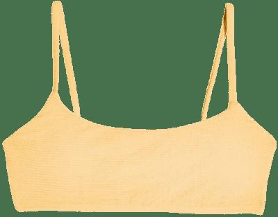 Orange Crinkle Cami Bikini Top-Topshop