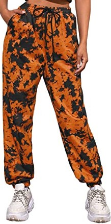 Orange Jogger Sweatpants-SweatyRocks