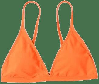 Orange Micro Triangle Bikini Top-Shein
