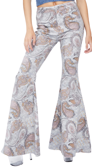 Paisley Just Float On Flare Jeans-Free People