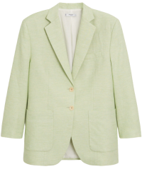 Pastel Green Linen Blazer
