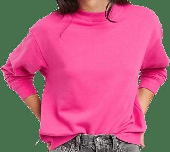 Pink Classic Round Neck Sweatshirt-Monki