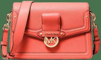 Pink Jessie Medium Pebbled Leather Shoulder Bag-Michael Kors