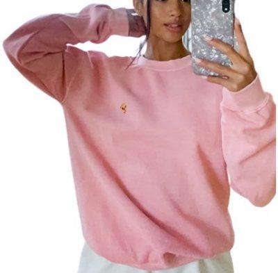 Pink Pizza Sweatshirt-Topshop