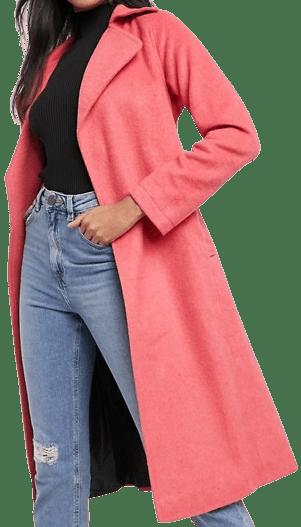 Pink Wrap Coat