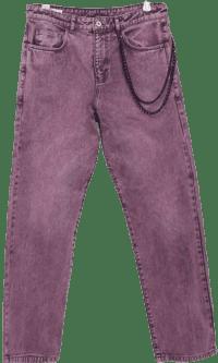 Pink x005 Straight-Leg Acidwash Jeans