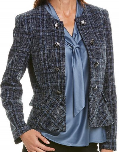 Plaid Jacket-Tahari ASL