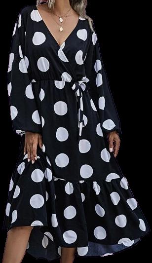Polka Dot Knot Side Dress