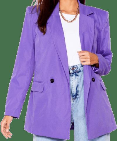 Purple Big Shoulders Big Dreams Relaxed Blazer