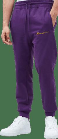 Purple Essential Signature Joggers