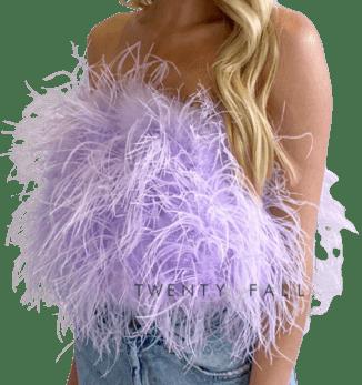 Purple Feather Top-TwentyFall