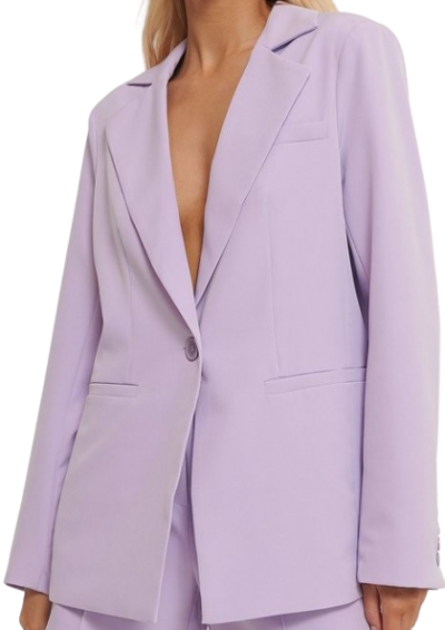 Purple Single Button Blazer