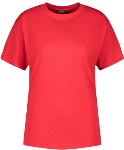 Red Basic Oversized T-Shirt